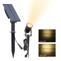 Buy cheap Solar Spot Garden Lights Ground Stick Into Outdoor Landscape Lighting Sensor ActivaedAuto OFF/ON For Patio,Yard from wholesalers