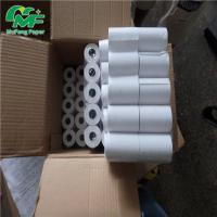 Buy cheap High Whiteness Thermal Card Machine Rolls Smoothly Surface Paper Board / Plastic Core from wholesalers