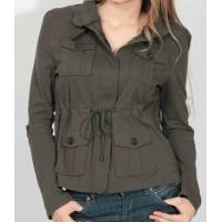 Buy cheap wholesale 22,000pcs girl's cheap knit military jacket autumn casual zipper tops inventory from wholesalers