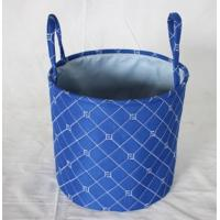 Buy cheap Hot sale fabric storage basket with round shape , quilting seam design,decorative itme,storage bag, children bag, from wholesalers