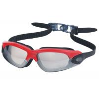 Buy cheap Silver Mirror Coated  Prescription Swimming Goggles Super Wide Angle Wearproof from wholesalers