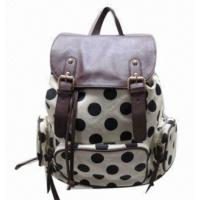 Buy cheap Girl's backpack with balck dots, classical design, 2014 new styles from wholesalers