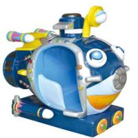 MP4 kiddie ride with music and small video game blue undersea boat Manufactures