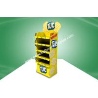 Buy cheap Cardboard Food Display Stand Yellow CMYK Offset Printing POS Cardboard Displays With Five Shelf For Foods from wholesalers