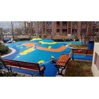 Buy cheap Sound Insulation Rubber Chip Flooring Customized Colors For Kindergartens from wholesalers