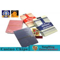 Buy cheap Texas Hold ' Em Poker Gaming Games Casino Playing Cards 3.3mm Thickness from wholesalers