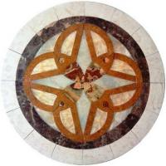 Buy cheap Modern Home Marble Floor Design Medallion from wholesalers