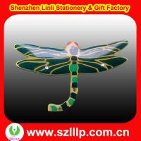 Buy cheap dragonfly shaped OEM LED lights flashing  fasion name badges magnet from wholesalers