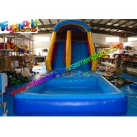 Buy cheap Family Size Outdoor Inflatable Water Slide ,  Climbing Slide With Pool  For Kids from wholesalers