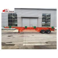 Buy cheap Port Transportation 20ft Container Trailer With Steel Leaf Spring Suspension product