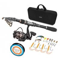 Buy cheap Black Durable Nylon + EVA Material Fishing Rod Case With Handle from wholesalers