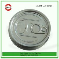 China 300aluminum easy open end for milk powder can,73mm aluminum EOE for dry food, aluminum lid on sale