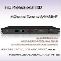 Buy cheap 4-Channel HD Professional IRD DVB-S2 TO UDP/IP 6MPTS/128SPTS 4*HDMI Output RIH1304_IP from wholesalers
