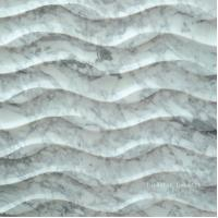 Wholesale 3D Natural White Carrara Stone Wallart Panel from china suppliers