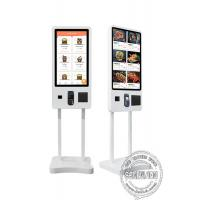 Buy cheap 32 43 Self Ordering Interactive Touch Screen Payment Kiosk Floor Standing With Printer from wholesalers