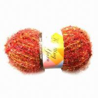 Buy cheap Hand Knitting Fancy Yarn, Suitable for Motifs and Crocheted Trims, Samples are Available from wholesalers