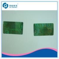 Buy cheap Green Tamper Evident Custom Hologram Stickers For Certificate / Document from wholesalers