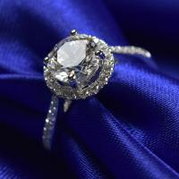 Buy cheap 1.0 Ct Moissanite Jewelry White Gold Ring With Elegant Gift Box RD166 from wholesalers