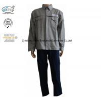Buy cheap Cotton Grey Blue Fire Retardant Suit Jacket Pants Safety Protective Clothing from wholesalers