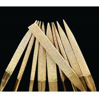 Buy cheap 3 * 140 mm Titanium Coated Diamond Micro Files Excellent Surface Finish For Soft Metal Wood from wholesalers