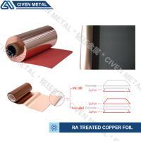 Buy cheap Red / Black Fatigue Resistance Treated Ra Copper Foil 12um 18um 25um product