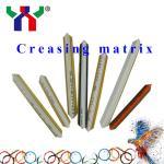 Buy cheap PVC Resin Fibre Metal creasing matrix for pringting from wholesalers