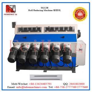 roller reducing machine for heater tubulars