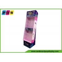 Buy cheap Corrugated POP Pegboard Display Stand With Display Base And Shinny Printing HD060 from wholesalers
