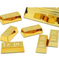 Buy cheap Gold Brick Shape Refrigerator Magnets Resin Craft Gift For Home Refrigerator Decoration Souvenir Birthday Gift from wholesalers