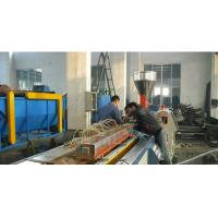 China Automatic Plastic Profile Production Line With Double Screw Extruder on sale