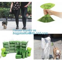 Buy cheap Compostable Logo Printed Colorful Pet Dog Waste Poop Plastic Garbage Bag 100% Biodegradable, bagplastics, bagease, pac from wholesalers