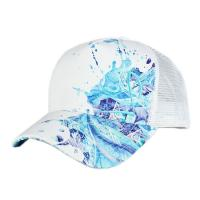 Wholesale 100% ployester Digital  Printing 5-panel hat air-mesh trucker caps Customize adult trucker hats black&white size 57-60CM from china suppliers