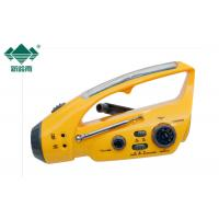 Solar Powered Dynamo Rechargeable Radio With Flashlight / Crank Operated Radio Manufactures