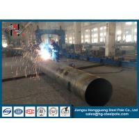 Q235 Polygonal Galvanized Steel Tubular Poles for Overhead Line Project Manufactures