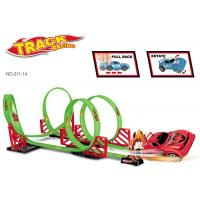 Wholesale 360° Rotation 115 CM Toy Race Car Track Sets 4 Loops 1 Pull Back Vehicle from china suppliers
