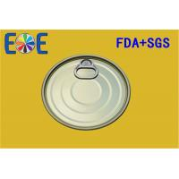 Buy cheap 603# 153.4mm Metal Steel Tinplate Easy Open Ends For Fruit Food Can from wholesalers
