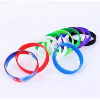 Buy cheap Presents Silicone Rubber Bracelets , Personalised Silicone Wristbands Elastic from wholesalers