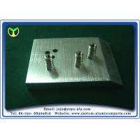 Buy cheap Silver Glass Bracket Aluminum Anodizing Service Support Base With Brushed from wholesalers