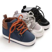 Buy cheap Hot sale PU Leather Lace-up Outdoor barefoot ankle cool boy baby boots from wholesalers