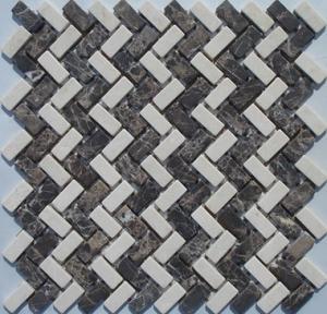 Brown Marble Mosaic,Herribone Mosaice,Hexagon Mosaic,Basket Wave Design Mosaic Manufactures