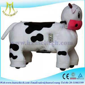 China Hansel Electric Animal Battery Toy Stuffed Toys On Animals Plush Wheel Animals / Ride On on sale