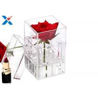 Buy cheap Waterproof Acrylic Planter Box , Gifts Clear Acrylic Storage Boxes With Lid from wholesalers