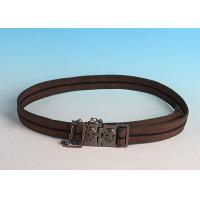 China High quality Male Casual Skull design buckle Fabric Belt on sale