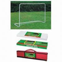 Buy cheap Easily assemble metal soccer goal/set youth soccer training equipment, made of steel from wholesalers