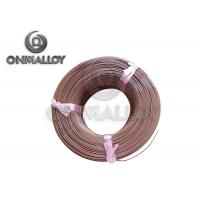 PTFE insulation Thermocouple Cable Type T 24 AWG 20 AWG Brown Color Manufactures