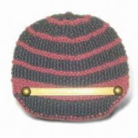 Buy cheap Fashionable Style Knitted Women Hat, Made of 30% Wool and 70% Acrylic, Handmade from wholesalers