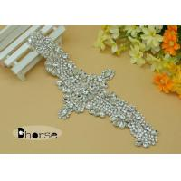 Sew On Bling Jewellery Crystal Rhinestone Bridal Appliques For Wedding Dress Manufactures