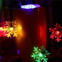 Buy cheap Snowflake Decorative Led String Lights , Warm Color Solar Led Christmas Tree Light from wholesalers