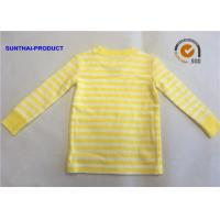 Buy cheap Size  Customized Plain Baby Clothes Stripe Long Sleeve Kids Pajama Tops from wholesalers