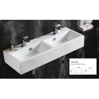 Buy cheap Double wall mounted wash basin home depot ceramic cabinet basin vintage porcelain bathroom sink from wholesalers